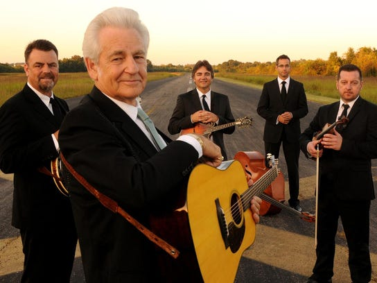 The Del McCoury Band performs at the Grey Fox Bluegrass
