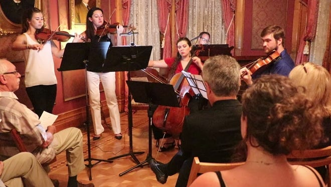 The NouLou Chamber Players in concert at the Conrad-Caldwell House.