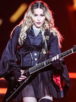 Madonna performs at the opening night of her Rebel Heart Tour on Sept. 9.