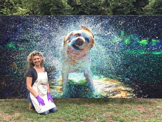 grown up finger painting artist creates stunning images with her