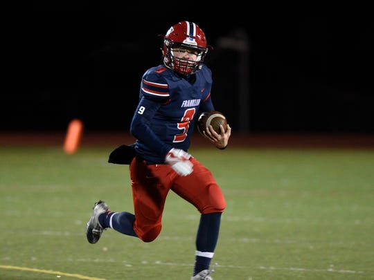 Livonia Franklin QB Jacob Kelbert sparked his team