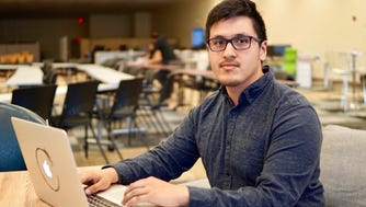 Jacobo Hernandez is completing a web development  class through TechHire at UMOS in Milwaukee. The classes were made possible by a Department of Labor grant.