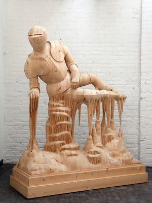 Morgan Herrin, Untitled (Knight), wood, 2012.