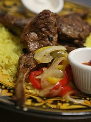 The lamb chop entree at the Olive Tree Cafe.