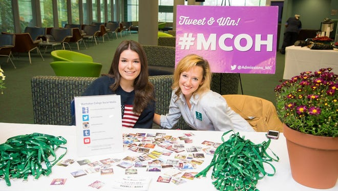 Speaking their language: Manhattan College recruitment fairs make social media a central part of the process.