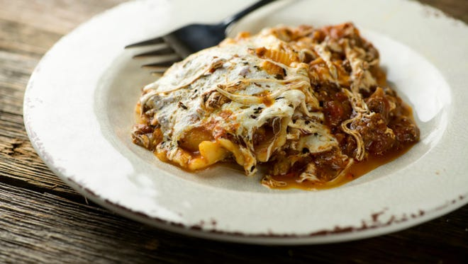 This ravioli lasagna is quick and delish.