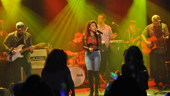 Alyssia Dominguez performs at her album release party at Saloon on Calhoun April 13.