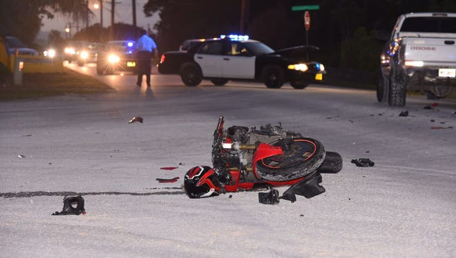 Police were redirecting traffic at the scene of a motorcycle accident in Yigo Tuesday night.