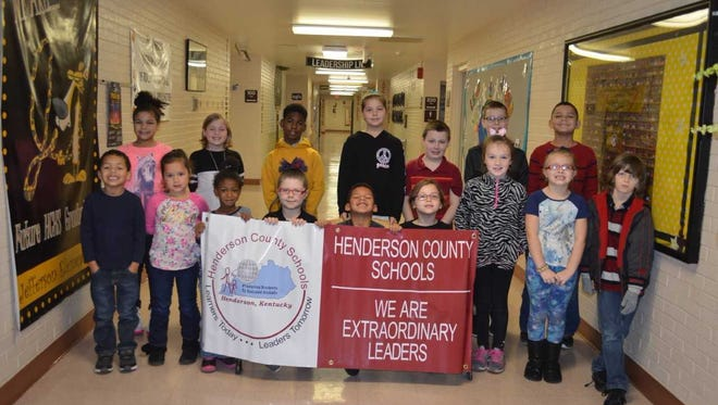 Jefferson Elementary's November leaders of the month are, front row from left: Gavyn Brown, Alana Kaulia, Riley Parker, Kaylee Vest, Jye Mathews, Khaloe Schwartz, Sophia Smith, Stella Davis and Jacob Moore. Back row: Nevaysia Wallace, Kennedy Sohne, Elijah Harvey, Kaidee Girten, Sean Westerman, Ashton Nelson and LaTravion Johnson. Not pictured: E.J. Williams.