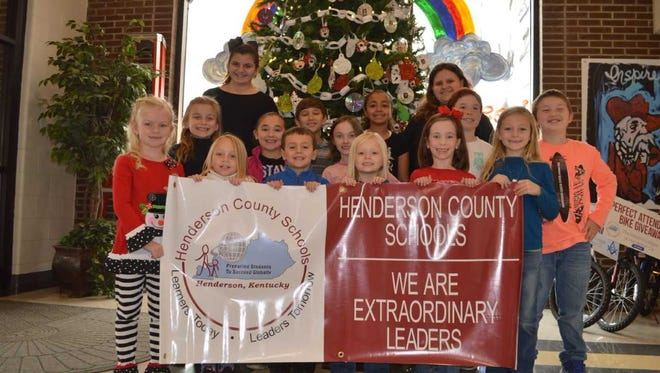 Niagara Elementary's November leaders of the month are, front row from left: Adley Proctor, Layla White, Aiden Mayfield, Kara Whitledge, Lily Moore and Audree Doss. 2nd row: Isabella Griggs, Harper Todd, Shanley Totten, Adrianna Linzy and Brock Majors. Back row: Brynn Baker, Brayden Ratliff, Madalynn Harris and Joni Bentley.