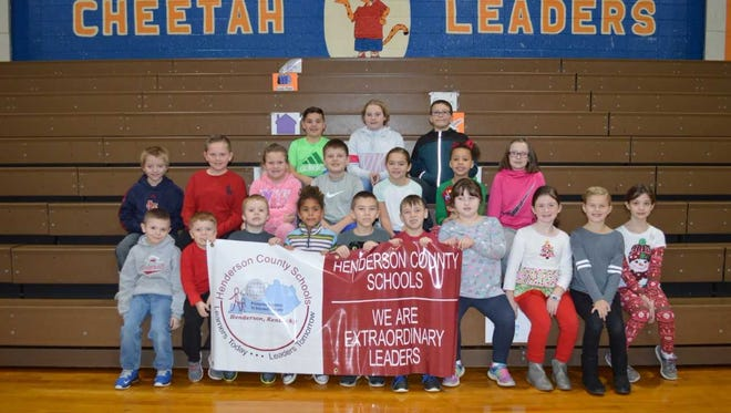 A. B. Chandler Elementary's November leaders of the month are, front row from left: Elijah Clement, Lukas Mueller, Jace webb, Myah Neal, Dagen Williams, Holden Fossum, Charlee Rayburn, Emma Baker, Bella Swartz and Sydney Mattingly. 2nd row: Aydan Fulcher, Hunter Hurt, Abby Hargiss, Cash Bender, Tanner Pearcy, Kinsley Thompson and Ella Hall. Back row: Parker Zieman, Maykaylee Spainhoward and Trey Roy.