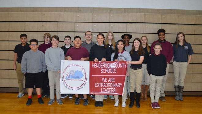 South Middle School's December students of the month are, front row from left: TreShawn Green, Gage Beck, Hector Gonzalez, Avery Parris, Marley Walker, Jessie Latimer and Olivia Staples. Back row: Quincy Craig, Jerry Neel, Ty Polly, Grant Edwards, Olivia Roy, Kadence Bradford, Sydney Wawrin, Bryce Tapp and Jordan Troutman. Kylie Givens was absent for photo.