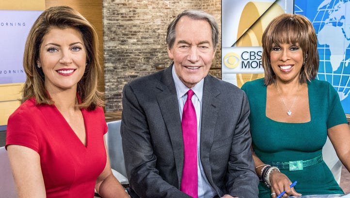 Charlie Rose, seen here with co-hosts Norah O'Donnell