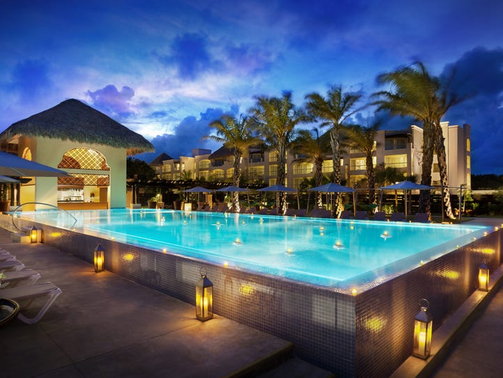 The Hard Rock Hotel Punta Cana has 13 pools including