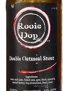 Rooie Dop Double Oatmeal Stout made at Brouwerij De Molen in Bodegraven, Netherlands, is 9.6% ABV.