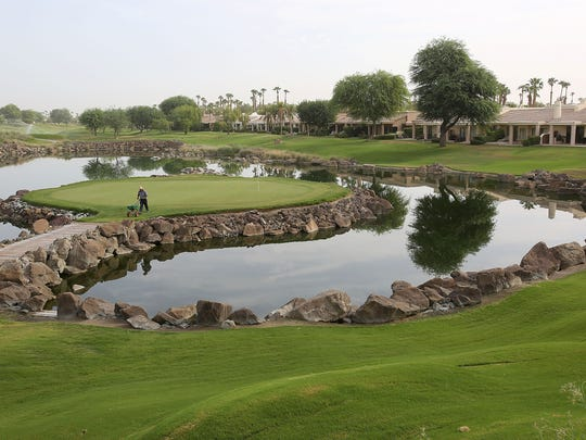 "The 17th hole known as ""Alcatraz"" at the PGA West TPC Stadium Course will be filled with spectators during the upcoming CareerBuilder Challenge."