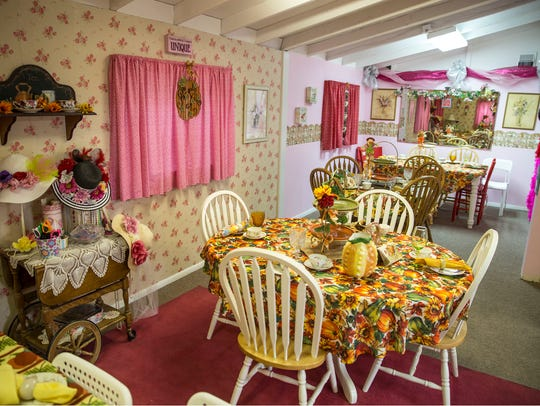 The tea room at A Sweet Memory in Lacey.
