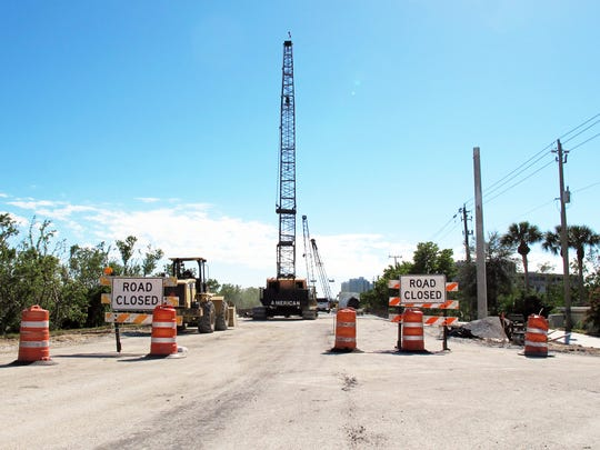 Although work began a year ago to replace two bridges on Vanderbilt Drive in North Naples, months of work remains to complete the project by spring 2018.