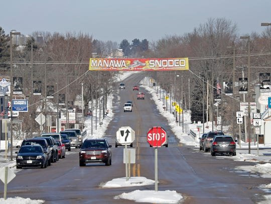 The city of Manawa on Wednesday, February 7, 2018,