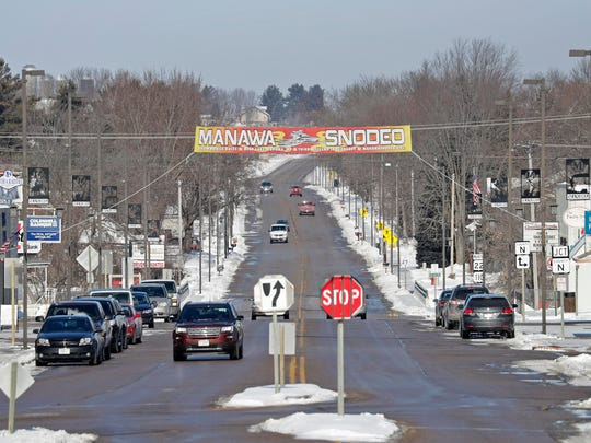The city of Manawa on Wednesday, February 7, 2018, in Manawa, Wis.