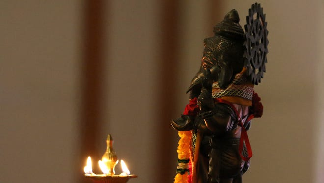 A statue of Lord Ganesh is seen during a past Diwali festival.