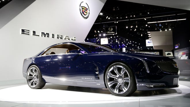 """Cadillac Elmiraj concept car at the  2013 Los Angeles Auto Show Nov. 20. Mark Reuss, head of GM's North American operations, says it's the """"car Cadillac needs"""" to """"make a statement."""" Production plans haven't' been disclosed."""