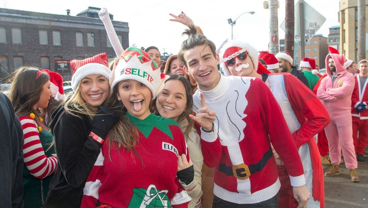 Hoboken holds 2017 SantaCon. 12/16/2017