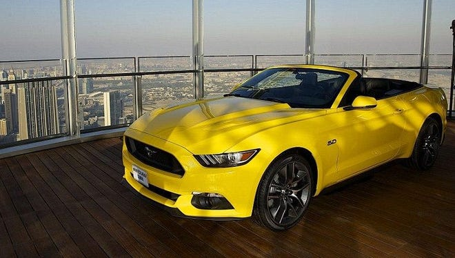 Since 2015, some 395,000 Mustangs have rolled out of Flat Rock — 98,000 of them sold overseas. This GT has a view of Dubai.