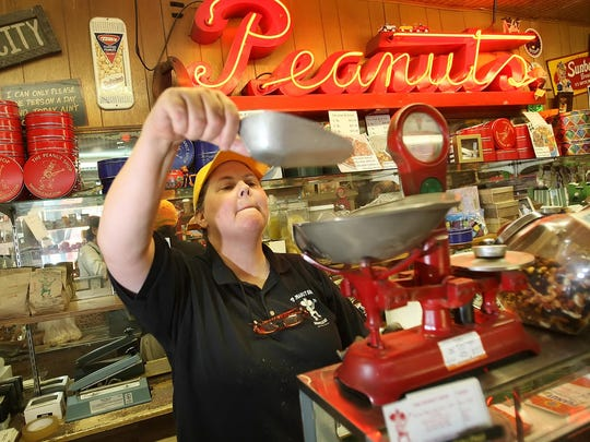 The Peanut Shop, which has been serving nuts since 1927, has a $2 half-pound bag of roasted, salted peanuts in the shell.