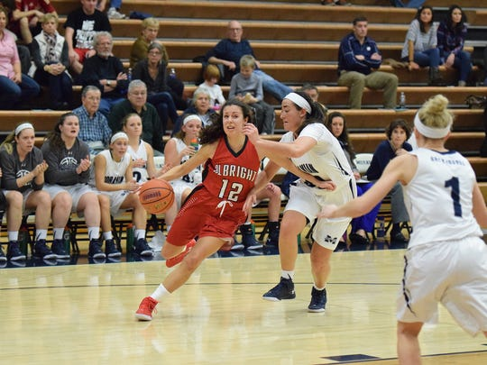 Albright junior Shannon Thomas, a Dallastown graduate, ranks third on the team in scoring with 10.3 points per game.