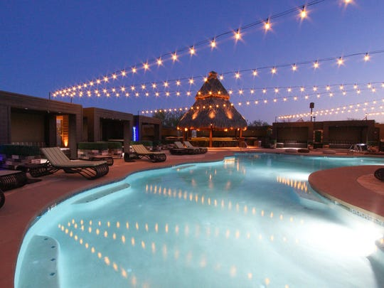 BLK Live is a 20,000-square-foot dining and music venue in the Scottsdale Airpark. BLK Live's unique features include a swimming pool with custom cabanas.