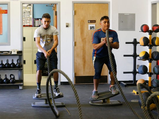 Eduardo Enriquez and Derick Munoz, both Canutillo High School students, are two of seven area high school students that were recently named All-Americans by the National Strength and Conditioning Association (NSCA).