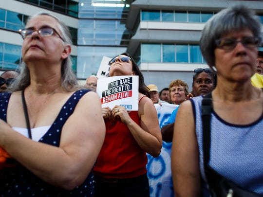 People gather in Cowles Commons for a Black Lives Matter