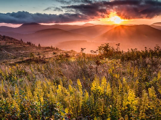"""Sunset in the Shining Rock Wilderness"" by Rob Travis."