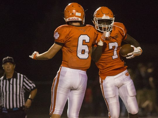 Central York's Dustin Grim, left, and Sakai Barton