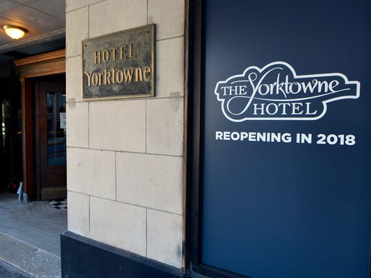 Yorktowne Hotel closes for renovations