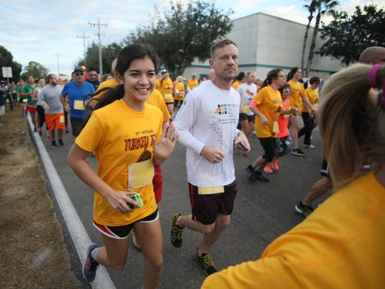 More than 2,100 runners participated in the Turkey Trot at the Cape Coral Wellness Center last Thanksgiving.