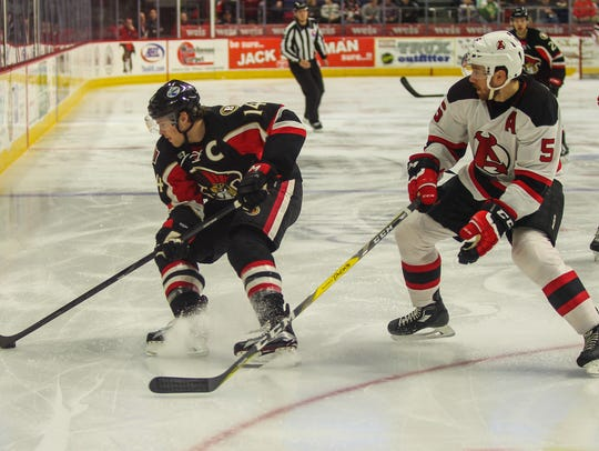 The Binghamton Senators and Albany Devils met up at