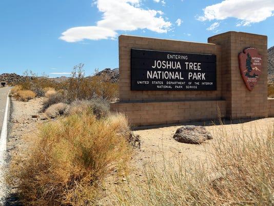 Joshua Tree Park sign generic