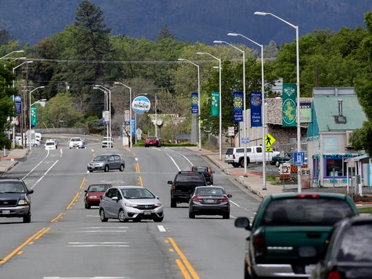 Among the businesses along Shasta Dam Boulevard are