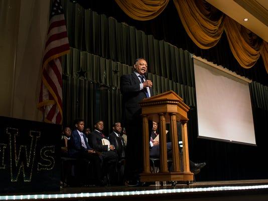 Jesse Jackson at Whitehaven High School