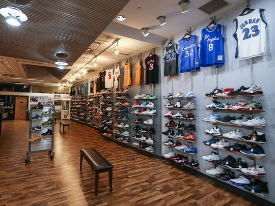 Grails Inc. in Washington Square Mall sells hot-selling new and used sneakers.