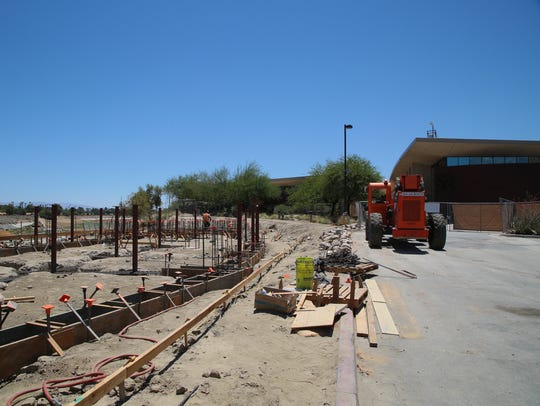 The Rancho Mirage observatory, being built by San Dimas-based