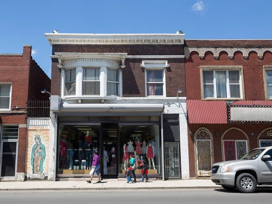 Storefronts line Vernor Highway on Monday, May 22,