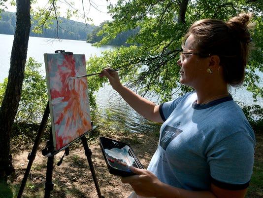 Plein Air Art event at Lake Williams