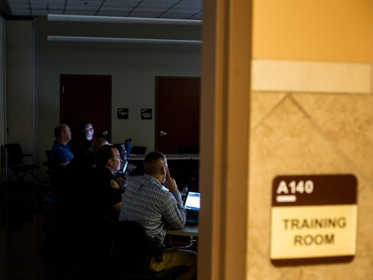 October 04, 2017 - Memphis Police officers train on