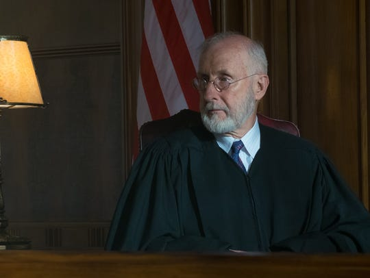"In ""Marshall,""  the presiding judge (James Cromwell)"