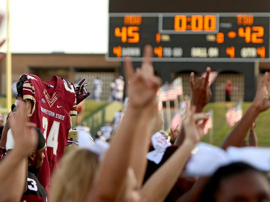 The Midwestern State University Mustangs defeated Tarleton