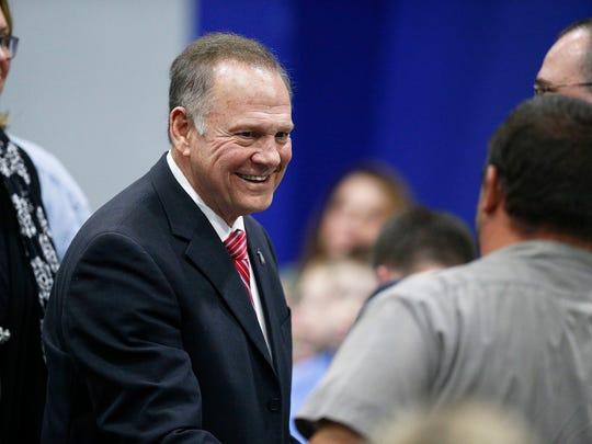 Former Alabama chief justice and U.S. Senate candidate