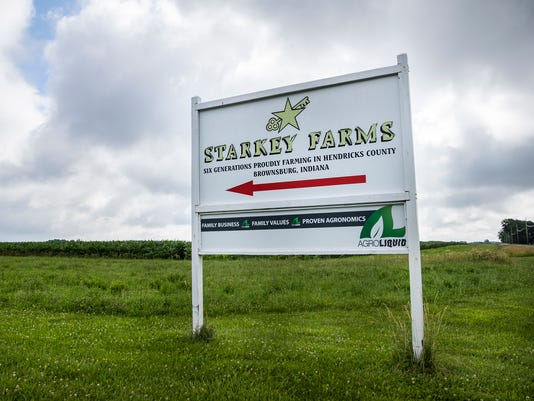 Mike Starkey's Brownsburg, Ind., farm's multi-million dollar water quality monitoring study could be in jeopordy if the Ronald Reagan road extension is forced through his property.